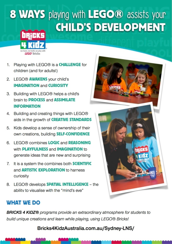 BRICKS 4 KIDZ Sydney | 10 Ways LEGO Assists Development